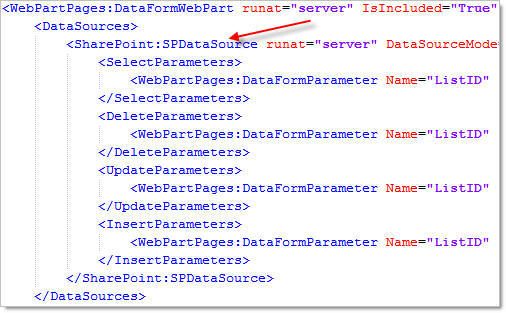 Web part parameters in the master